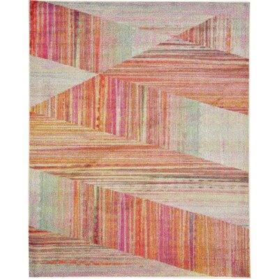 Aristomache Pink Area Rug Rug Size: Rectangle 8 x 10