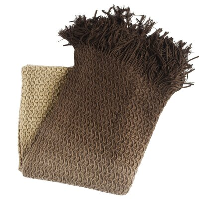 Klotho Knit Throw Blanket Color: Coffee