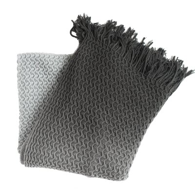 Klotho Knit Throw Blanket Color: Gray