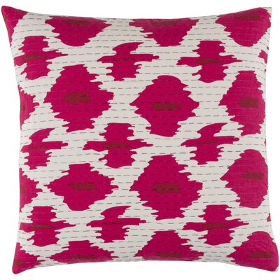 Filipina 100% Cotton Throw Pillow Cover Size: 18 H x 18 W x 1 D, Color: PinkRed