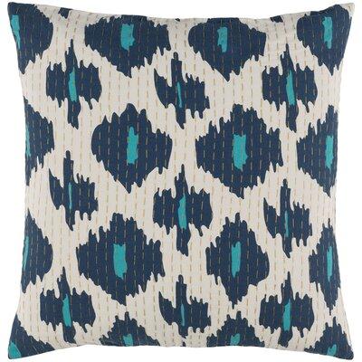 Filipina 100% Cotton Throw Pillow Cover Size: 18 H x 18 W x 1 D, Color: Blue