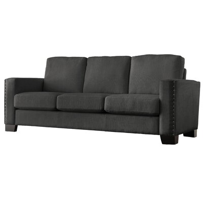 Blackston Nailhead Trim Sofa Upholstery: Dark Gray