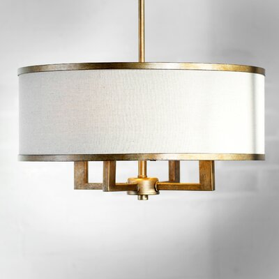Bisbee 4-Light Drum Chandelier Finish: Hand Painted Antique Gold Leaf