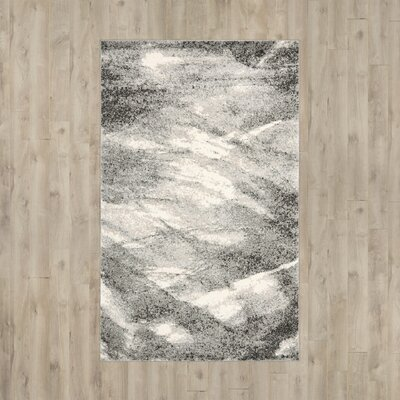 Vulpecula Gray and Ivory Area Rug Rug Size: 11 x 15