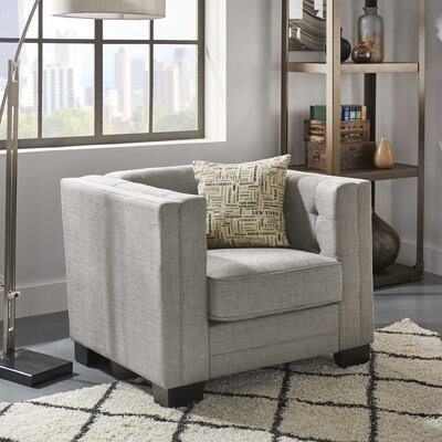 Vidette Square Guest Chair Seat Color: Gray