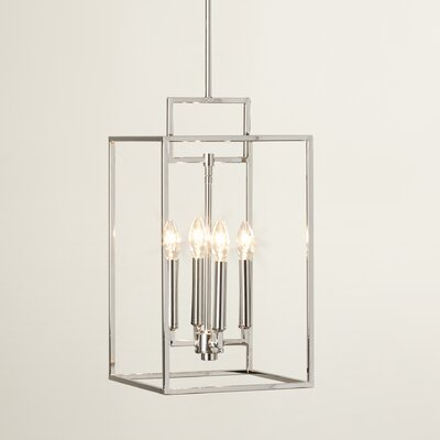 Abrego 4-Light Foyer Pendant Finish: Polished Nickel