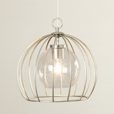 Aarons 1-Light Bowl Pendant Size: 13.75 H x 14 W x 14 D