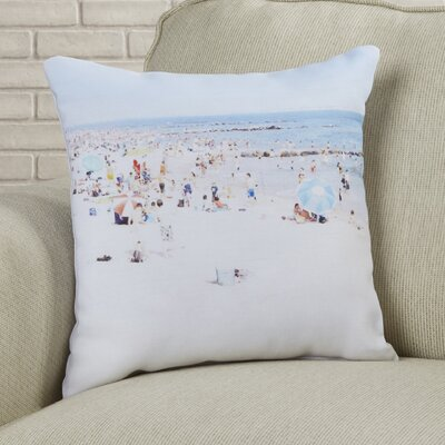 Beach Throw Pillow Size: 18 H x 18 W x 2 D
