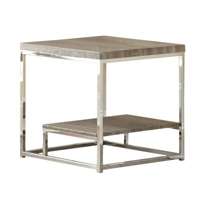 Corona End Table Color: Grey / Brown