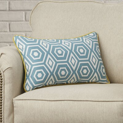 Magna Decorative Cotton Throw Cushion Size: 12 H x 20 W x 3.5 D, Color: Turquoise