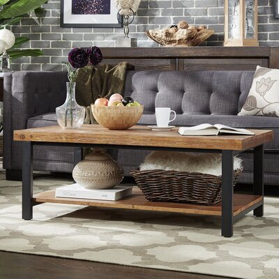 Leo Coffee Table Finish: Brown