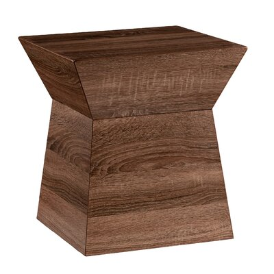 Panthea Geometric Storage End Table