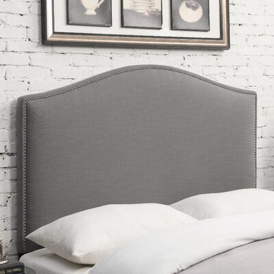 Zoe Upholstered Panel Headboard Size: King, Upholstery: Ash