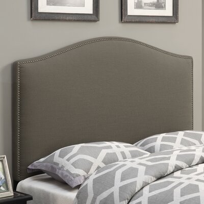 Zoe Upholstered Panel Headboard Upholstery: Taupe, Size: King
