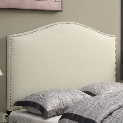 Zoe Upholstered Panel Headboard Size: Full/Queen, Upholstery: Beige