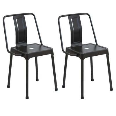 Menke Side Chair Upholstery: Carbon Black