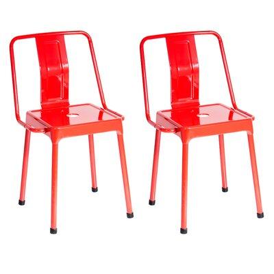 Menke Side Chair Upholstery: Red