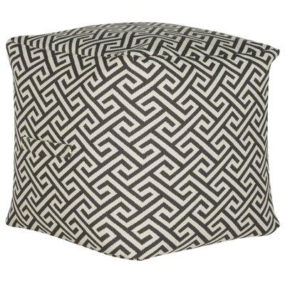 Neomi Fret Pouf Upholstery: Gray/White