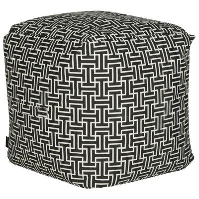 Lysistrate Cube Pouf Ottoman Upholstery: Black/White