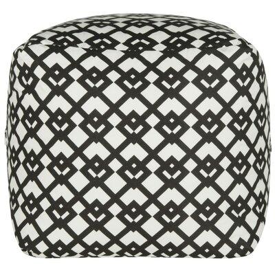 Straton Pouf Ottoman Upholstery: Black/White