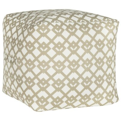 Straton Pouf Upholstery: Cream/White