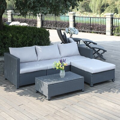 Lachesis 5 Piece Seating Group Color: Grey