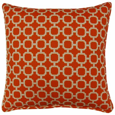 Tessa Corded Throw Pillow Color: Mandarin