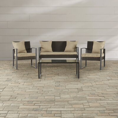 Xander 4 Piece Seating Group with Cushion