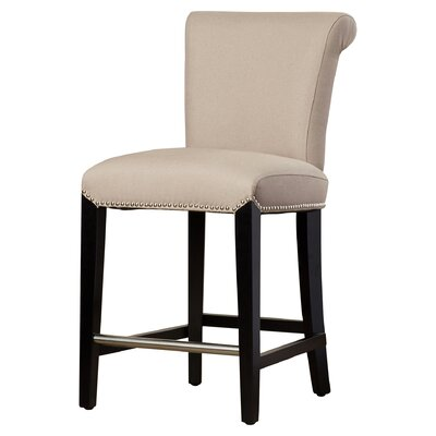 Cargo 24 inch Bar Stool with Cushion Upholstery: Beige