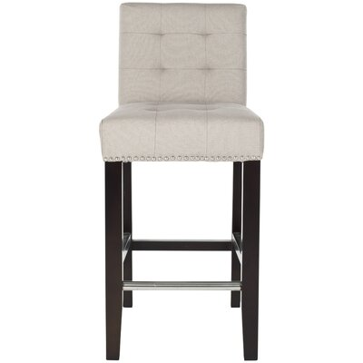 Carreon 23.4 Bar Stool Upholstery: Beige