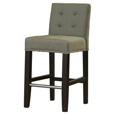 Carreon 23.4 Bar Stool Upholstery: Grey
