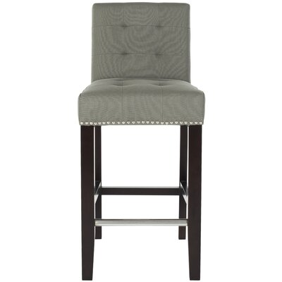 23.4 inch Bar Stool Upholstery: Grey