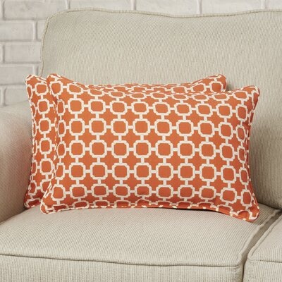 Tessa Corded Lumbar Pillow Color: Mandarin