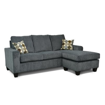 Morpheus Reversible Sectional with Ottoman Upholstery: Vermont Gray / Spectator Spa