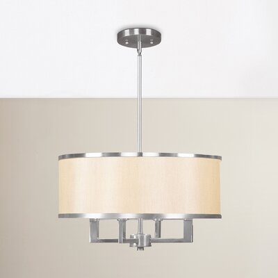 Bisbee 4-Light Drum Chandelier Finish: Brushed Nickel