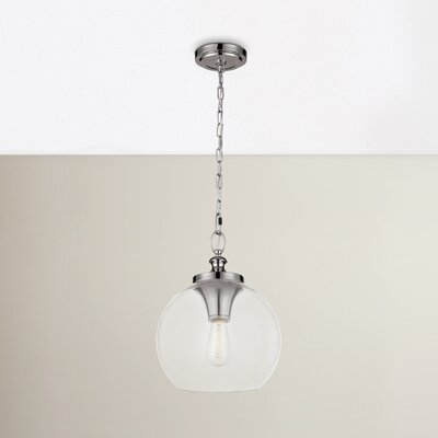 Asellus 1-Light Foyer Pendant Finish: Polished Nickel, Size: 15.88 H x 12 W x 12 D