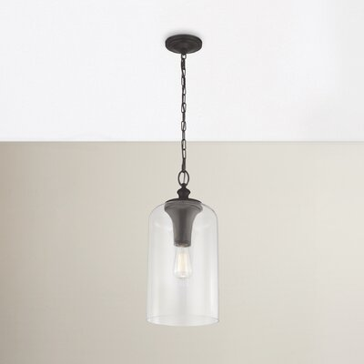 Nolan 1-Light Foyer Pendant Finish: Oil Rubbed Bronze, Size: 19.88 H x 9 W x 9 D