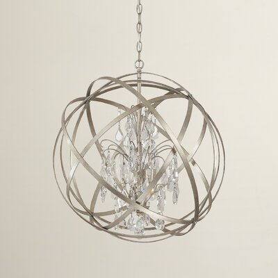 Adcock 4-Light Globe Pendant Finish: Winter Gold
