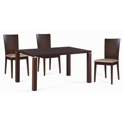 Mccullum 5 Piece Beech Wood Dining Set