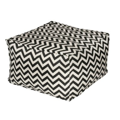 Nehemiah Chevon Bean Bag Ottoman Color: Black