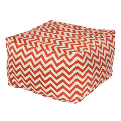 Nehemiah Chevon Bean Bag Ottoman Color: Orange