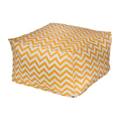 Nehemiah Chevon Bean Bag Ottoman Color: Yellow