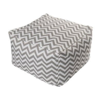Nehemiah Chevon Bean Bag Ottoman Color: Grey