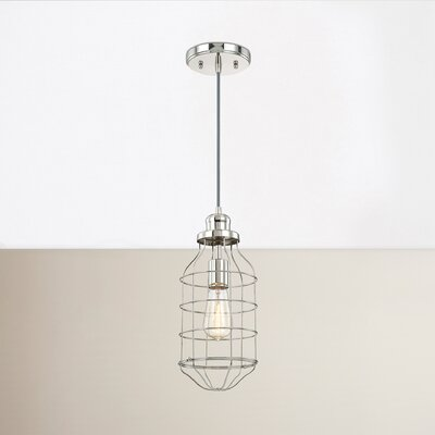 Abbott Way 1-Light Mini Pendant Finish: Polished Nickel