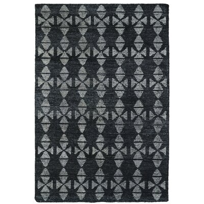 Handmade Charcoal / Grey Area Rug Rug Size: 8 x 11