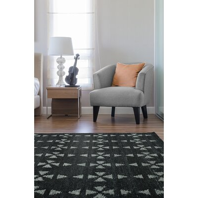Handmade Charcoal / Grey Area Rug Rug Size: Rectangle 4 x 6