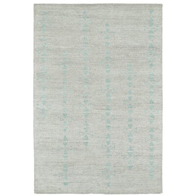 Aracely Hand Woven Silver/Turquoise Area Rug Rug Size: Rectangle 2 x 3