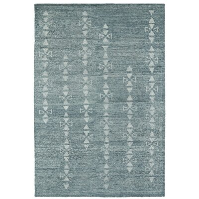 Aracely Handmade Ice Blue / Light Blue Area Rug Rug Size: 2 x 3
