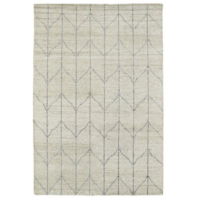 Aracely Hand Woven Sand/Grey Area Rug Rug Size: Rectangle 2 x 3