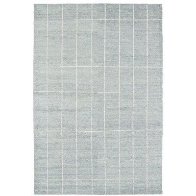 Aracely Hand Woven Glacier Blue/Ivory Area Rug Rug Size: Rectangle 2 x 3